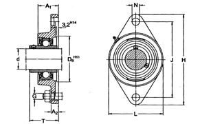 Y Bearing Y-BEARINGS FLANGED UNITS WITH